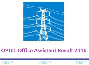 OPTCL Office Assistant Result 2016