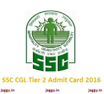 SSC CGL Tier 2 Admit Card 2016