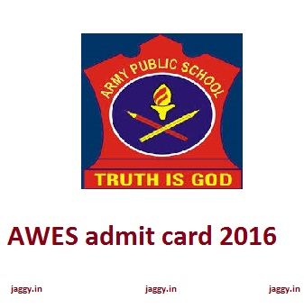 AWES admit card 2016