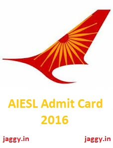 AIESL Admit Card 2016