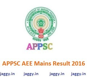 APPSC AEE Mains Result 2016