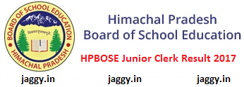HPBOSE JC Result 2017