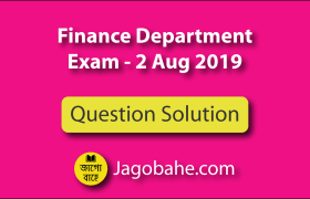Finance Department Question Solution