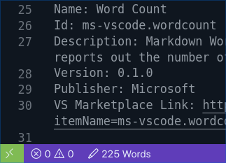 extension word count vscode