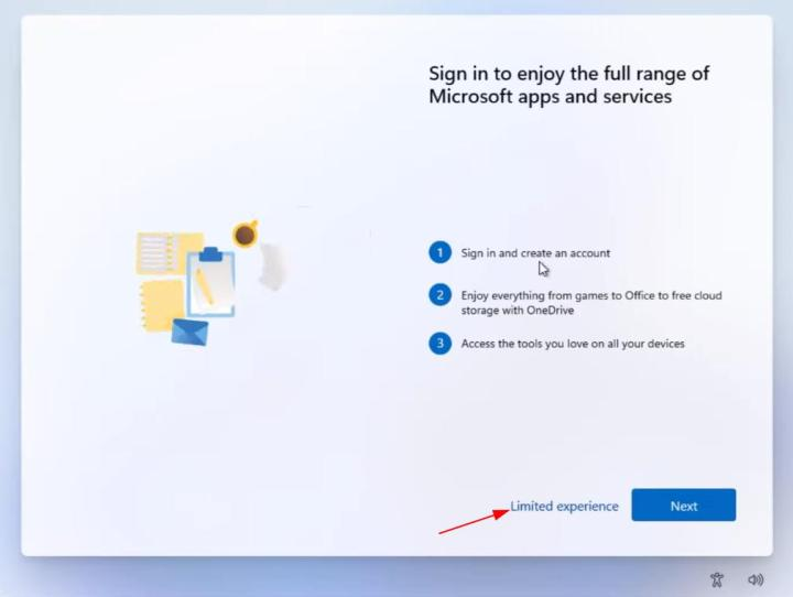limited experience windows 11