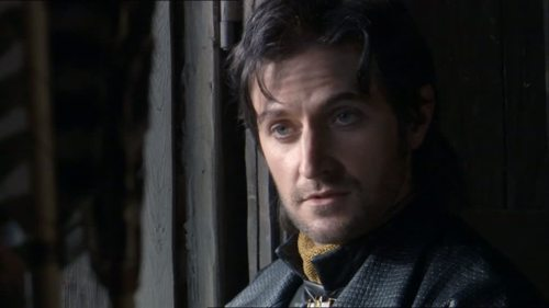 Richard Armitage as Guy of Gisborne, realizing he has no competition in the series.