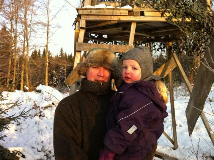 Med børn på jagt