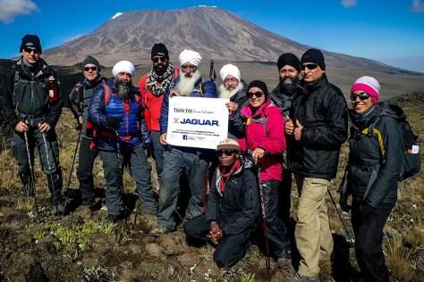 Sponsors Jaguar Sewing Machines support Kilimanjaro expedition
