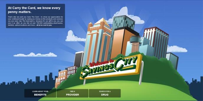 Savings City Illustration