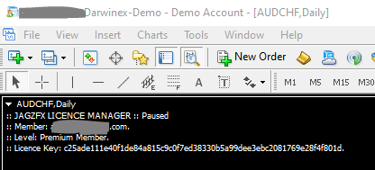 JagzFX Licence Manager Status Display