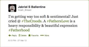 The Croods: Fatherhood Tweet