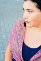 Painted Plumes shawl from JahDK by Anastasia E White