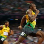 Jamaica's Usain Bolt runs to win the men's 200m final at the London 2012 Olympic Games at the Olympic Stadium