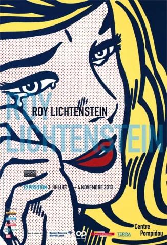 affiche-exposition-roy-lichtenstein-centre-pompidou