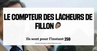 Libération lance le compteur des lâcheurs de Fillon