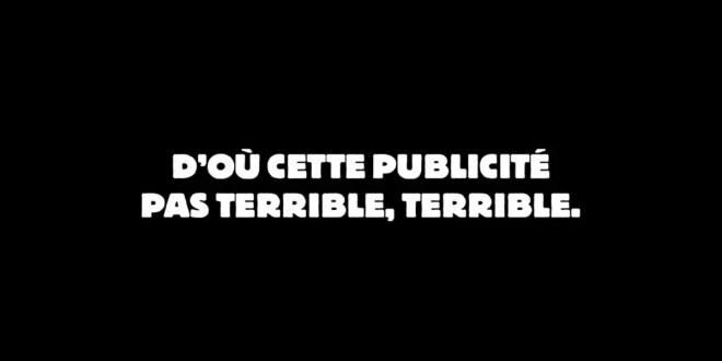 BURGER KING dévoile une publicité «pas terrible, terrible»