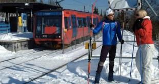 À Oslo, un métro dépose les skieurs aux pieds des pistes !