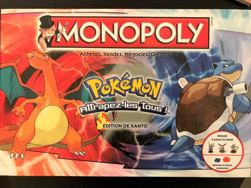 Boite monopoly version pokemon