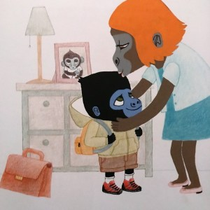 illustration du livre Eliott rentre à l'école