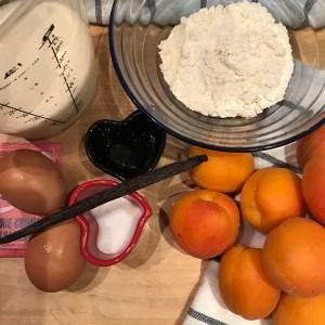 Ingrédients de la recette du Clafoutis aux abricots