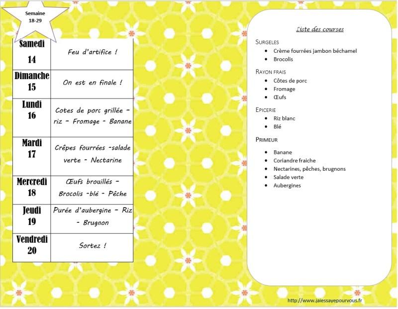 menus semaine 29-2018