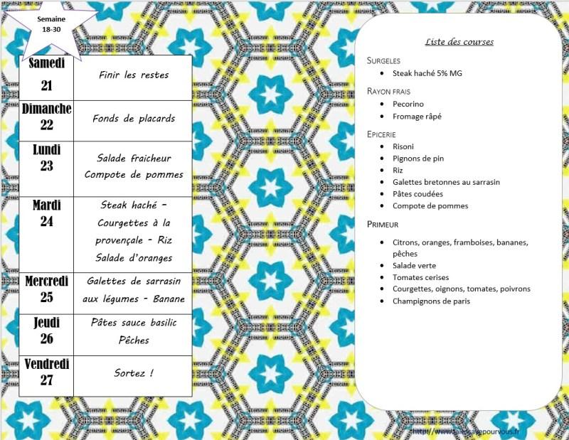 menus semaine 30-2018