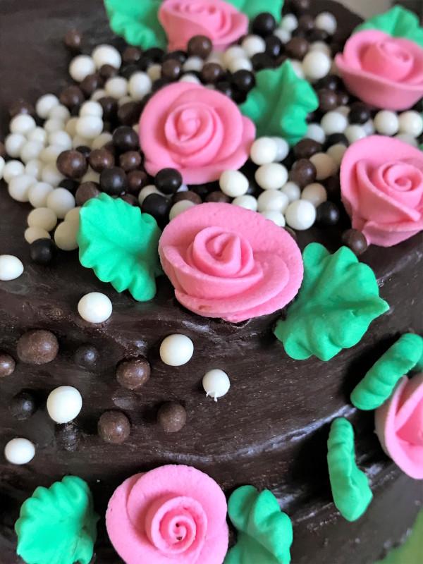 gâteau d'anniversaire tout chocolat