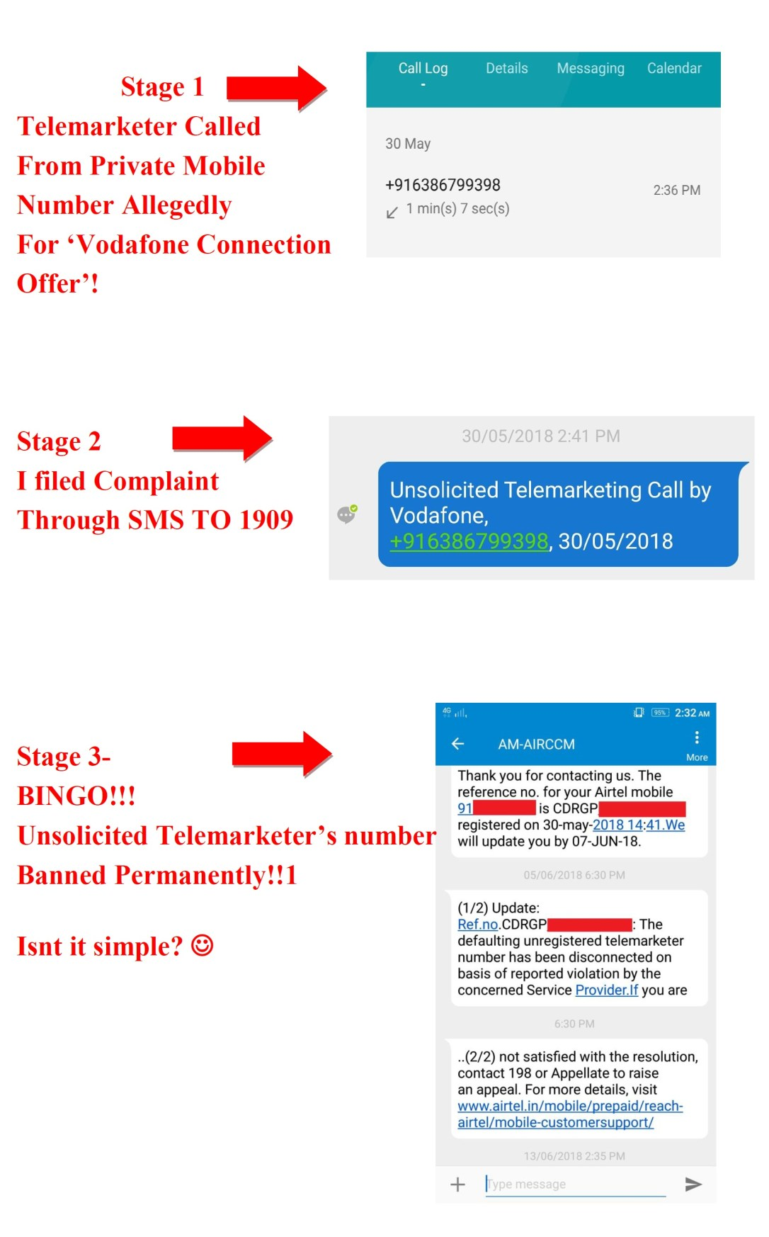 Telemarketer from Vodafone banned post TRAI's 1909 SMS Complaint