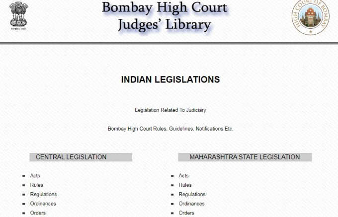 कानून, नियम, अध्यादेश, विधेयक तथा सरकारी योजना डाउनलोड तथा उपलब्ध करानेवाली सरकारी वेबसाईट