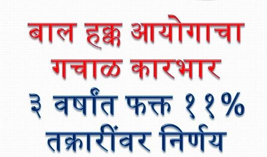 महाराष्ट्र राज्य बाल हक्क संरक्षण आयोग कारभार