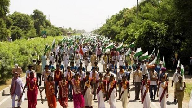 Los sin tierra de la India organizan una marcha mundial por la paz de Delhi a la sede de la ONU en Ginebra en 2020
