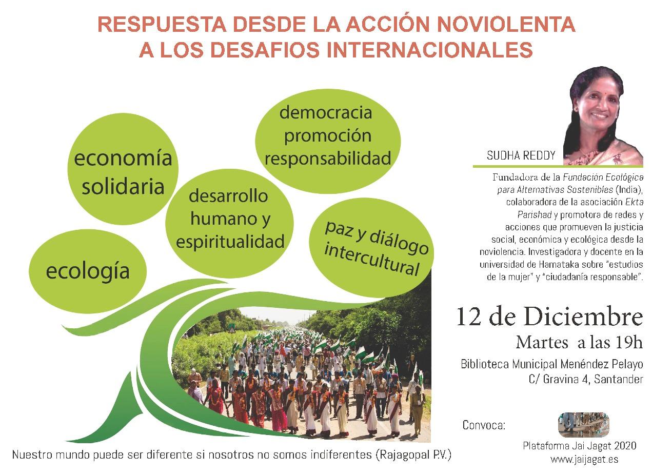 Santander: Respuesta desde la acción no violenta a los desafíos internacionales