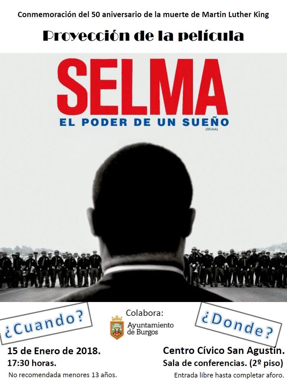 Burgos: proyección de Selma (derechos civiles en EEUU)