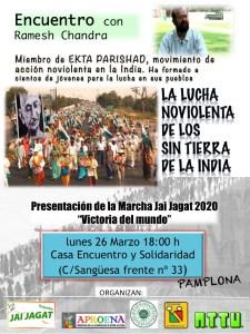 Pamplona: Presentación de la marcha Jai Jagat 2020