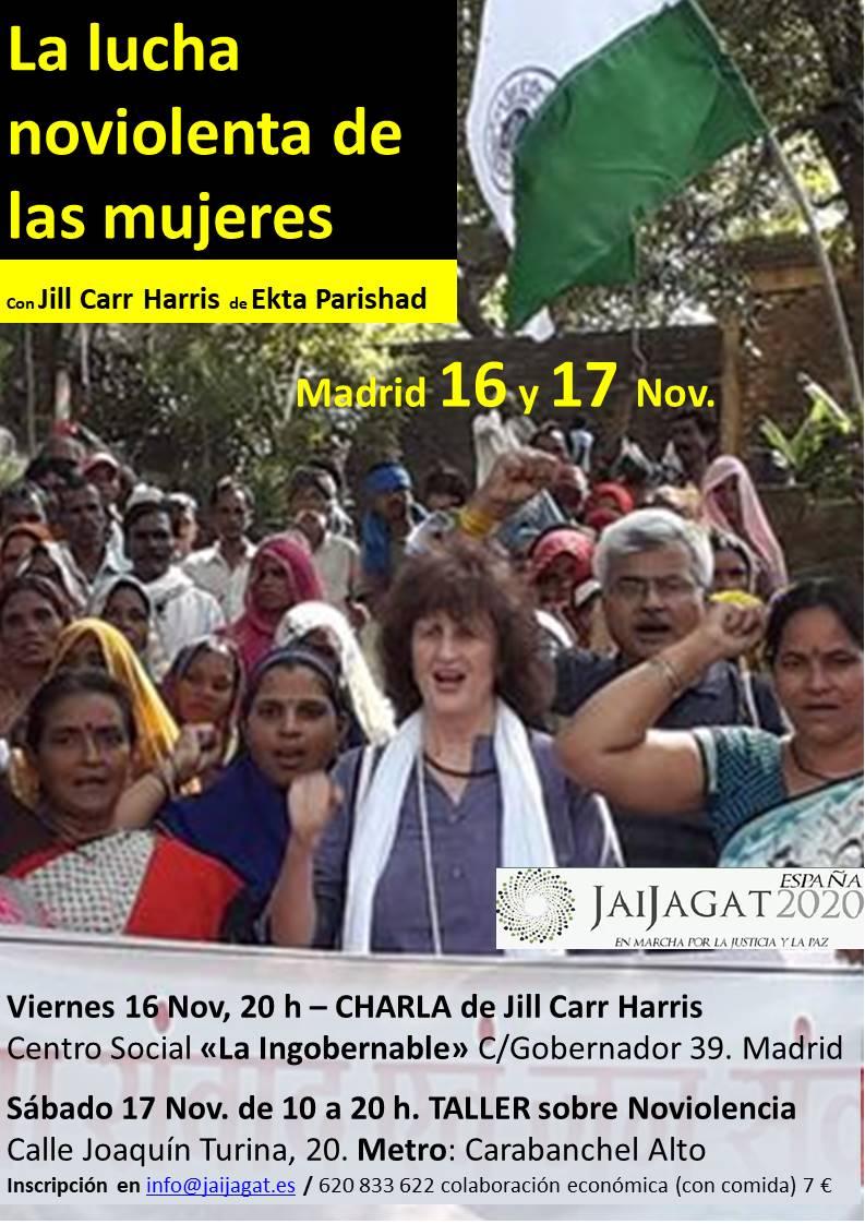 Presencia en Madrid de Jill Car-Harris, referente internacional sobre Noviolencia