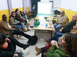 Barcelona: presentación de Jai Jagat 2020 por Ramesh Sharma coordinador internacional
