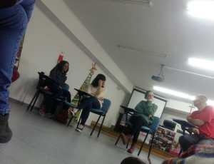"""Taller de """"acción noviolenta contra la trata"""" en Lugo."""
