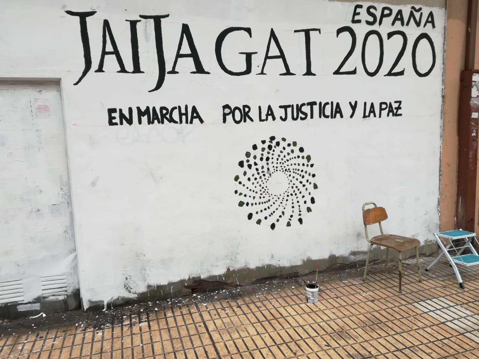 Mural colectivo por la noviolencia