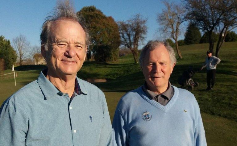 L'acteur Bill Murray se détend au golf de l'Hirondelle à Angoulême