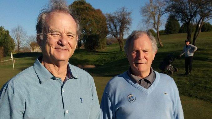 Bill Murray et Georges-Alain Calmels © Facebook Golf Club de l'Hirondelle