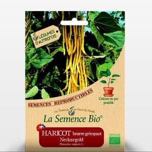 Haricot beurre à rame Neckargold - Sachet de graines bio pour les semis du potager - 080