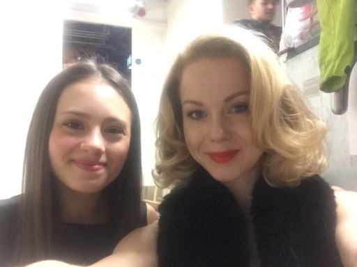 Jaime and the beautiful Amy Lennox at Anderson & Petty's concert, St James Theatre, Christmas 2016