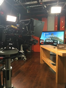 Jaime Adler and Lindsey Page waiting to record live with the news host on London Live