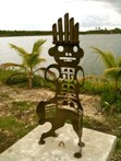 Principlet<br />Steel sculpture made by Jaime Angulo<br />2009<br />Height 4 ft