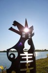 Unicorn<br />Steel sculpture made by Jaime Angulo<br />2009<br />Height 8 ft