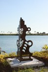 Aztec Steel sculpture made by Jaime Angulo<br />2009<br />Height 5 ft