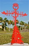 Olivia<br />Steel sculpture<br />Made by Jaime Angulo<br />Height: 8ft<br />Painted<br /><br />