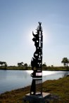 Tauroclep<br />Steel sculpture made by Jaime Angulo<br />2009<br />Height 16 ft