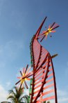 Rail to Heaven<br />Steel sculpture made by Jaime Angulo<br />2009<br />Painted<br />Height 21 ft