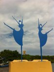 Bailarinas<br />Steel sculpture made by Jaime Angulo<br />August 2010<br />Painted<br />Height 8 ft